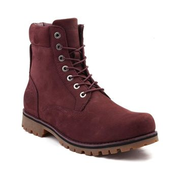 "Mens Burgundy Timberland 6"" Newmarket Waterproof Leather Boots Online Only Free Shipping"