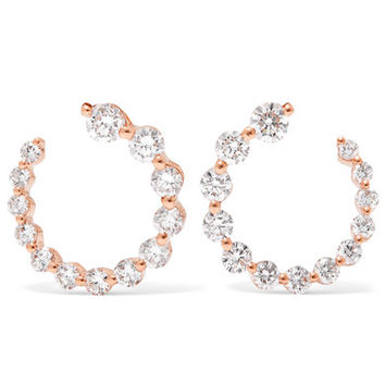 Anita Ko - Garland 18-karat rose gold diamond hoop earrings