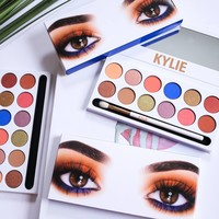 Kylie New Arrival 12 Colors Eye Shadow Set Brush [11002334988]