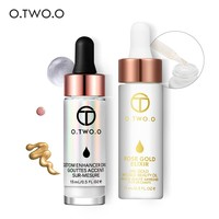 O.TWO.O 2pcs/set Liquid Highlighter+24K Rose Gold Make Up Oil Make Up Set Face Care