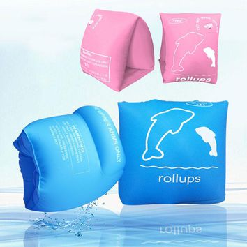 1 Pair of Summer Swimming Arm Ring Inflating Floating Armbands Circle Float Adult Kids Children Safety Water Air Floating Sleeve
