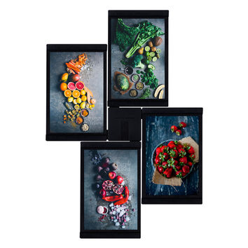 TTLIFE 4 Pcs Black Photo Frame Set Creative Gift DIY Home Decor Photo Frame Art Wall Picture Album High Quality