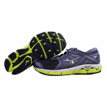Mizuno Wave Sky Graystone/Silver-Lime Punch J1GC170204 Men's