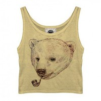 Smoking Bear Vest by Youreyeslie.com Online store> Shop the collection
