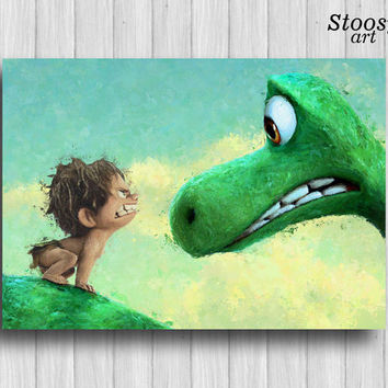 the good dinosaur poster nursery poster kids gifts disney art