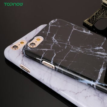 Hard PC New Granite Texture Marble Phone Case for iPhone 6 6S 6Plus 6sPlus 7 7Plus 5 5S SE Case Shockproof Plastic Back Cover