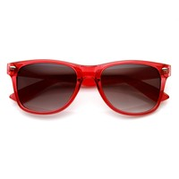 Transparent Candy Color Frame Horned Rim Sunglasses 8723