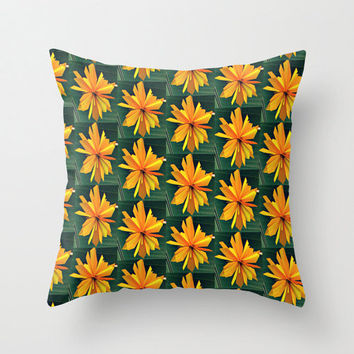 Artsy Pillow Cover - throw pillow home decor beautiful hipster yellow origami original photography goods 16x16