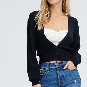 Calm And Collected Cardigan in Black