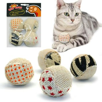 4Pcs/Pack Ball Cat Toy