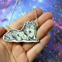 Wolf necklace - Bows Jewellery