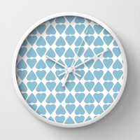 Diamond Hearts Repeat Blue Wall Clock by Project M