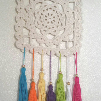 Crochet doily dream catcher