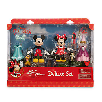 disney parks minnie mouse princess deluxe play set new edition new with box