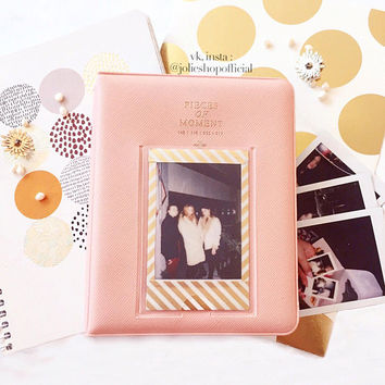 "Mini Polaroid Album ""ROSIE"" JEUNE COLLECTION 64 Pocket Fujifilm Instax Mini 8 Picture Case"