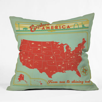 Anderson Design Group Explore America Throw Pillow