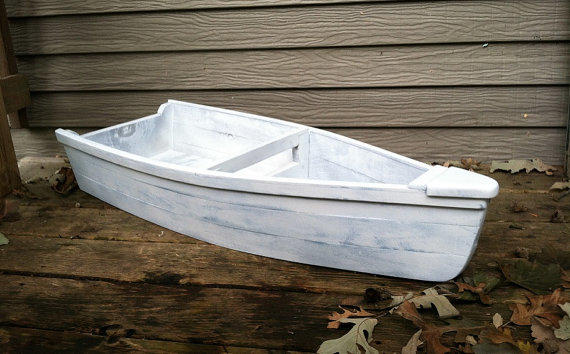 Rustic Painted Wooden Row Boat Children S From