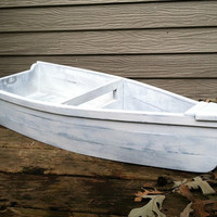 Rustic Painted Wooden Row Boat Children's Photo Prop