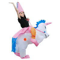 Adults Kids Halloween costume Inflatable Unicorn Dinosaur Costume for Woman Airblown Inflatable T rex Party Princess Dress