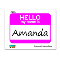 Amanda Hello My Name Is Sticker
