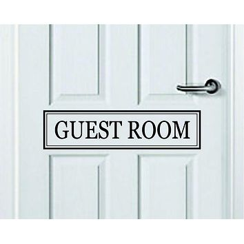 Guest Room Quote Wall Decal Sticker Bedroom Art Vinyl Inspirational Door Sign Teen Home Family Mom