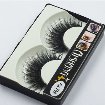 5Pair Of Women Makeup Beauty Thick 3D False Eyelashes popular messy nature Eye Lashes Long Black Handmade lashes Extension As752