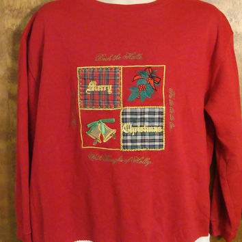 Cheap Tacky Red Christmas Sweatshirt