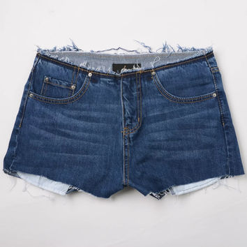 All-match Fashion Casual Tassel High Waist Ultrashort Jeans Shorts