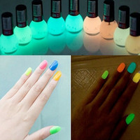 8ML Glow in the Dark night club Fluorescent Nail Manicure Polish Luminous = 1958369220