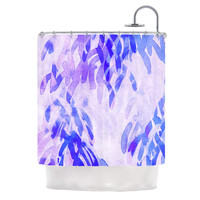 "Iris Lehnhardt ""Abstract Leaves III"" Blue Purple Shower Curtain"