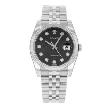 Rolex Datejust 116234 BKJDJ 18K White Gold & Stainless Steel Automatic Men's Watch