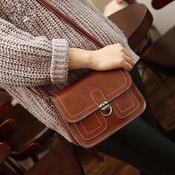 Women Vintage Crossbody  Bag Purse Bag Leather Shoulder Bag Messenger Bag Fashion Gifts