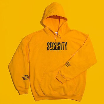 Justin Bieber Purpose Tour Security V Files Pop Up Shop Yellow Hoodie