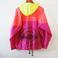 Vintage 90s Neon Colorblock Ocean Pacific Windbreaker - large -