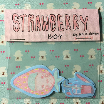 Strawberry Boy Sticker Pack