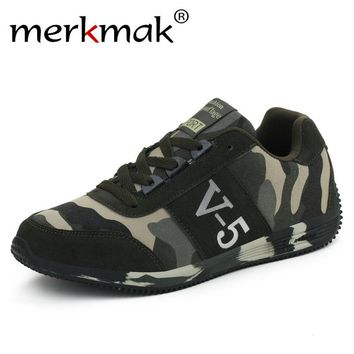 Merkmak New Spring Size 4-10 Unisex Casual Shoes Couple Lovers Canvas Flat Shoes Camouflage Comfortable Leisure Footwear