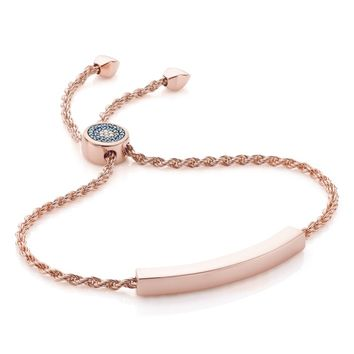 Monica Vinader Linear Evil Eye Diamond Bracelet | Nordstrom