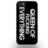 Queen of everything phone case, girl iphone case, chic iphone case, i6 case, iphone 5s caseiphone 4s case, iphone 6 plus case, woman case
