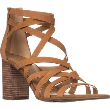 Franco Sarto Madrid Strappy Heeled Sandals, Biscuit, 9 US / 39 EU