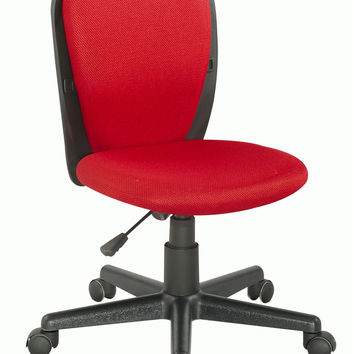 Black/Red Fabric Back and Seat Youth Desk Chair