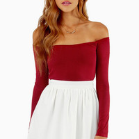 Barely There Off Shoulder Top $22