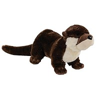 "12.5"" River Otter Stuffed Animal Plush Floppy Zoo Species Collection"