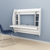 White Floating Desk with Storage:Amazon:Home & Kitchen