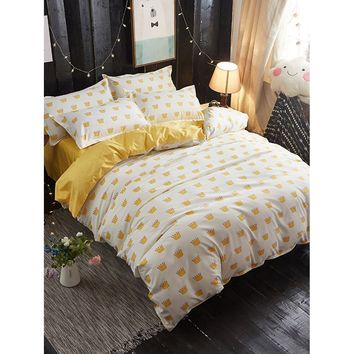 Crown Print Bedding Set