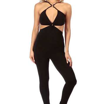 Cut Out Body Con Jumpsuit