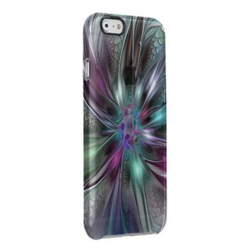Colorful Fantasy, abstract and modern Fractal Art Clear iPhone 6/6S Case