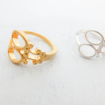 Scissors Gold Ring Unique ring Cute gold ring Dainty gold ring Delicate gold ring Gift mom Birthday Gift best friend Birthday Gift sister