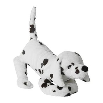 GOSIG VOVVEN Soft toy, dog, white/black - white/black - IKEA