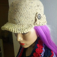 On Sale Handmade Crochet Girls Hunt Too Cap