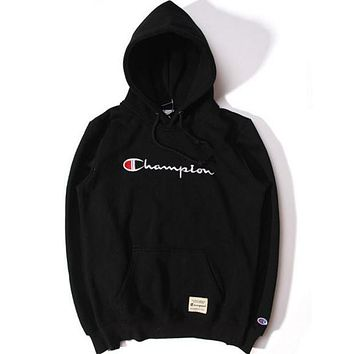 Champion Fashion Embroidery Logo Hooded Sport Top Sweater Sweatshirt Hoodie